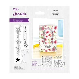 Gemini - Stamp & Die - Best Of British Rose Garden