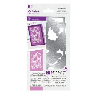 Gemini Decorative Outline Stamp & Die - Dancing Butterflies x 8 pieces