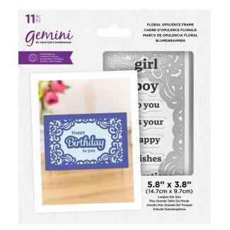 Gemini - Stamp & Die - Floral Opulence Frame