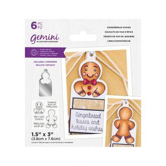 Gemini - Stamp & Die - Gingerbread Wishes