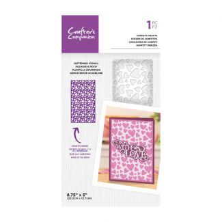 CC- Stencil - Confetti Hearts