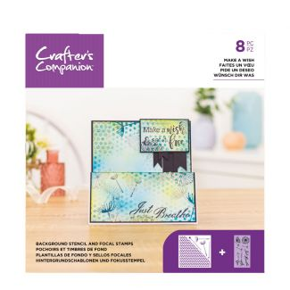 Background Stencil & Focal Stamps - Make a Wish