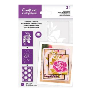 CC - Layering Stencils - Regal Rose