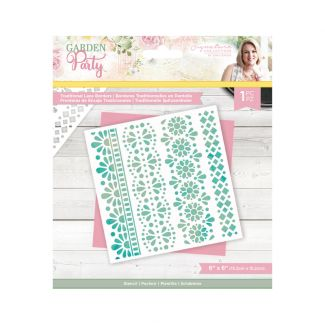 Garden Party - Stencil - Traditional Lace Borders