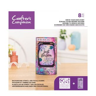 Background Stencil & Focal Stamps - Write your own story