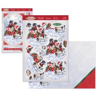 Stepping Into Christmas Deco-Large - Wagging Winter Tails