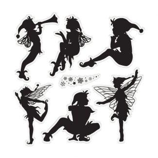 "Enchanted Christmas - 6"" x 6"" Acrylic Stamp Set - Magical Pixies"