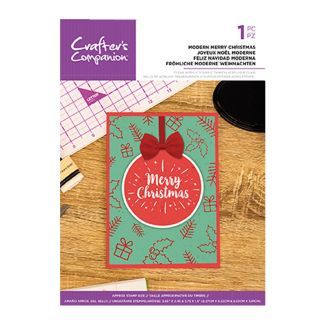 Clear Acrylic Christmas Quirky Sentiment Stamps - Modern Merry Christmas