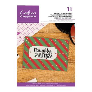 Clear Acrylic Christmas Quirky Sentiment Stamps - Naughty Is The New Nice