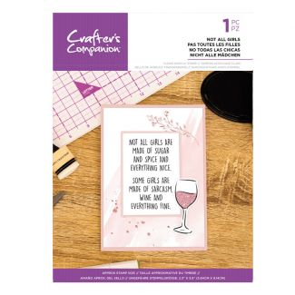 Clear Acrylic Quirky Sentiment Stamps - Not All Girls
