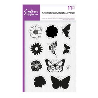 CC - Photopolymer Stamp - Butterflies & Blooms x 11 pieces