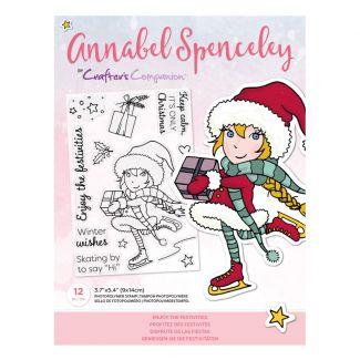 Annabel Spenceley Photopolymer Stamp - Enjoy the Festivities