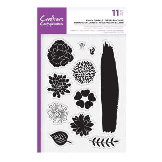 CC - Photopolymer Stamp - Fancy Florals x 11 pieces