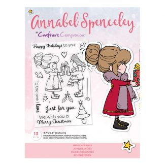 Annabel Spenceley Photopolymer Stamp - Happy Holidays