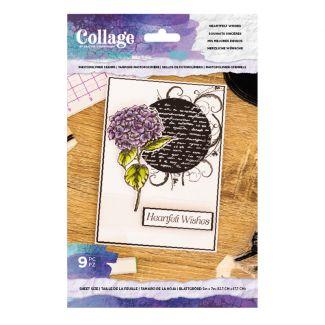 Collage - Photopolymer Stamp - Heartfelt Wishes