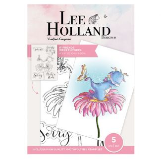 Lee Holland Photopolymer Stamp - If Friends Were Flowers