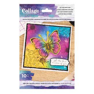 Collage - Photopolymer Stamp - Let Your Spirit Soar