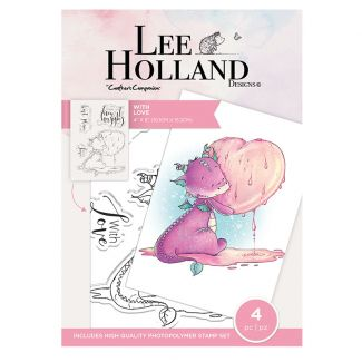Lee Holland Photopolymer Stamp - With Love