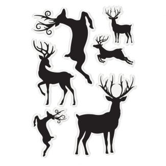 Enchanted Christmas - A6 Acrylic Stamp Set - Simply Stags