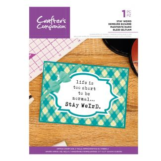 Clear Acrylic Quirky Sentiment Stamps - Stay Weird