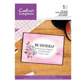 Clear Acrylic Quirky Sentiment Stamps - Be Yourself