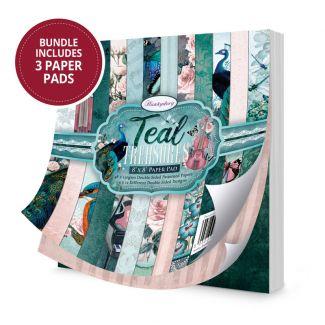 """Teal Treasures 8"""" x 8"""" Paper Pad"""