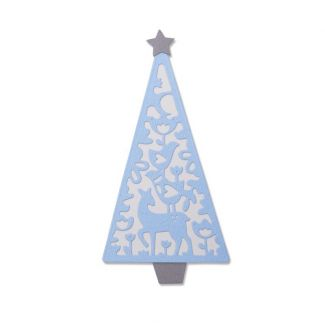Sizzix Thinlits Die Set - Folk Christmas Tree by Lisa Jones