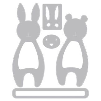Sizzix Thinlits Die Set - Bunny & Bear Hugs by Samantha Barnett
