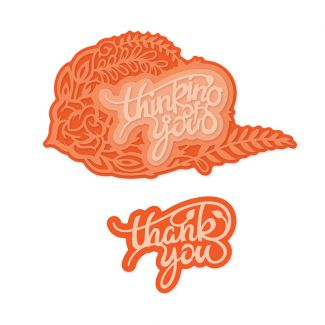 Thank You/Thinking of You Decorative Duo Sentiment Die Set