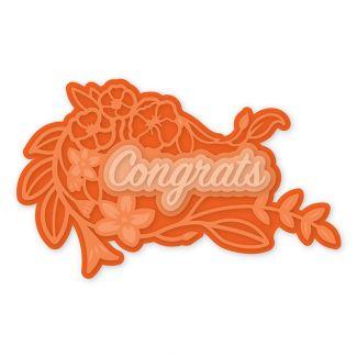 Congrats Decorative Sentiment Die Set