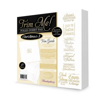 Trim Me! Foiled Insert Pad - Christmas 2 Gold