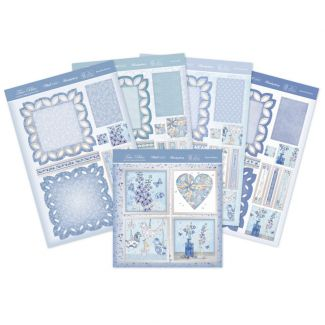 True Blue Fancy Edge Easel Card