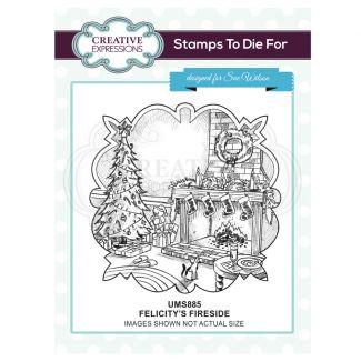 Felicity's Fireside Pre Cut Stamp