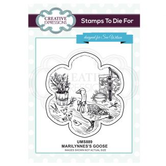 Marilynne's Goose Pre Cut Stamp