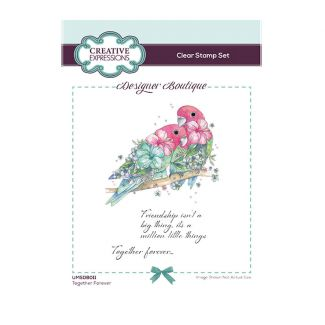 Designer Boutique Collection - Together Forever A6 Clear Stamp