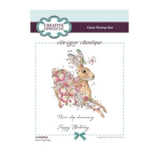 Designer Boutique Collection - Running Free A6 Clear Stamp