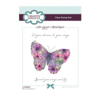 Designer Boutique Collection - Blossom Butterfly A6 Clear Stamp