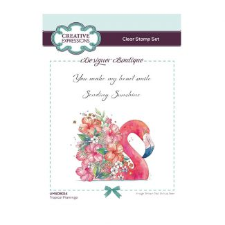 Designer Boutique Collection - Tropical Flamingo A6 Clear Stamp