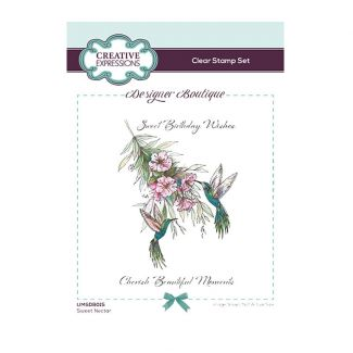 Designer Boutique Collection - Sweet Nectar A6 Clear Stamp