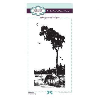 Designer Boutique Collection - Twilight Grazing DL Pre Cut Rubber Stamp