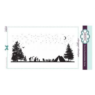 Designer Boutique Collection - Stargazing DL Pre Cut Rubber Stamp