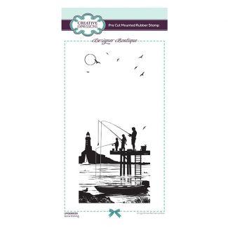 Designer Boutique Collection - Gone Fishing DL Pre Cut Rubber Stamp