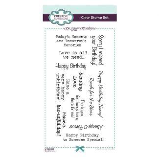 Designer Boutique Collection - Sending Love DL Clear Stamp Set
