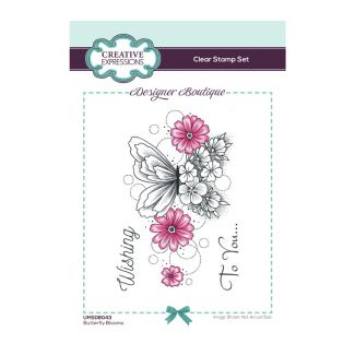 Creative Expressions Designer Boutique Collection Butterfly Blooms A6 Clear Stamp