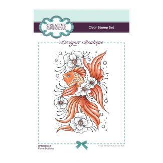 Creative Expressions Designer Boutique Collection Floral Bubbles A6 Clear Stamp