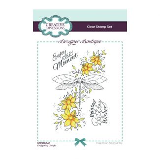 Creative Expressions Designer Boutique Collection Dragonfly Delight A6 Clear Stamp