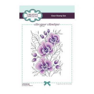 Creative Expressions Designer Boutique Collection Orchids In Bloom A6 Clear Stamp
