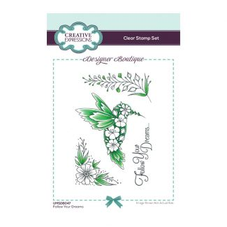 Creative Expressions Designer Boutique Collection Follow Your Dreams A6 Clear Stamp