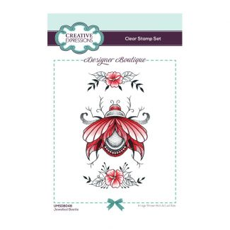 Creative Expressions Designer Boutique Collection Jewelled Beetle A6 Clear Stamp