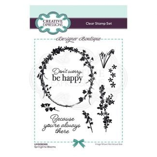 Creative Expressions Designer Boutique Collection Springtime Blooms A6 Clear Stamp Set